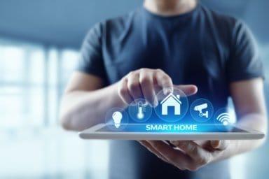 Smart Home Automation Control System. Innovationstechnologie Internet Netzwerkkonzept