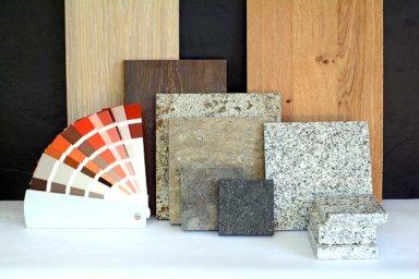 Eine Auswahl verschiedener Bodenbeläge