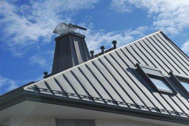 Ein Dach mit Stehfalzdeckung aus Zink
